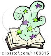 Cartoon Of A Magic Book Of Spells Royalty Free Vector Illustration