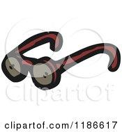 Cartoon Of Dark Glasses Royalty Free Vector Illustration