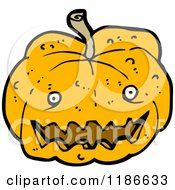 Cartoon Of A Jack O Lantern Royalty Free Vector Illustration