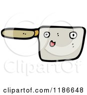 Cartoon Of A Pan With A Face Royalty Free Vector Illustration