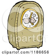 Cartoon Of Grandfather Clock With A Face Royalty Free Vector Illustration