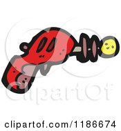 Cartoon Of A Ray Gun Royalty Free Vector Illustration by lineartestpilot