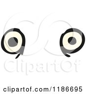Cartoon Of A Pair Of Eyes Royalty Free Vector Illustration