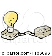 Poster, Art Print Of Lightbulb With An On Off Switch