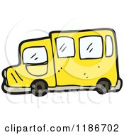 Cartoon Of A Yellow Bus Royalty Free Vector Illustration