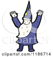 Cartoon Of A Wizard Royalty Free Vector Illustration