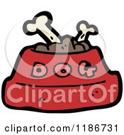 Cartoon Of A Dog Food Bowl Royalty Free Vector Illustration
