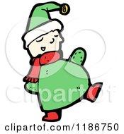Cartoon Of A Chubby Elf Royalty Free Vector Illustration