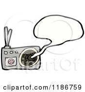 Cartoon Of A Radio Speaking Royalty Free Vector Illustration by lineartestpilot