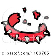 Cartoon Of A Spiked Dog Collar Royalty Free Vector Illustration