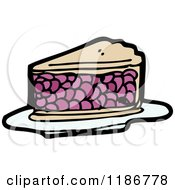 Cartoon Of A Slice Of Berry Pie Royalty Free Vector Illustration by lineartestpilot