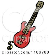 Cartoon Of A Guitar Royalty Free Vector Illustration by lineartestpilot