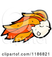 Cartoon Of A Girls Head With Red Hair Royalty Free Vector Illustration