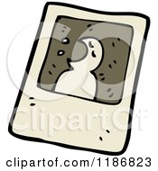 Cartoon Of A Black And White Ghost Photo Royalty Free Vector Illustration by lineartestpilot
