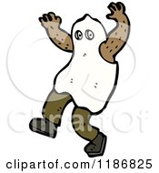 Cartoon Of A Child Dressed In A Ghost Costume Royalty Free Vector Illustration