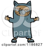 Cartoon Of A Child Dressed In A Cat Costume Royalty Free Vector Illustration