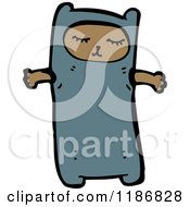 Cartoon Of A Child Dressed In A Bear Costume Royalty Free Vector Illustration