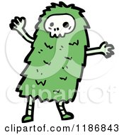 Cartoon Of A Child Dressed In A Skull Costume Royalty Free Vector Illustration