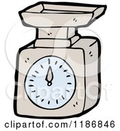 Cartoon Of Food Scales Royalty Free Vector Illustration