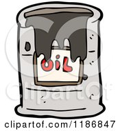 Cartoon Of A Leaking Oil Drum Royalty Free Vector Illustration by lineartestpilot