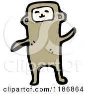 Cartoon Of A Child In An Animal Costume Royalty Free Vector Illustration