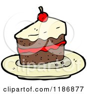 Cartoon Of A Piece Of Cake Royalty Free Vector Illustration