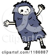 Cartoon Of A Child Dressed In A Skull Costume Royalty Free Vector Illustration by lineartestpilot