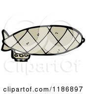 Cartoon Of A Blimp Royalty Free Vector Illustration