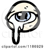 Cartoon Of A Teared Up Eye Royalty Free Vector Illustration