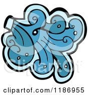 Cartoon Of A Water Design Element Royalty Free Vector Illustration by lineartestpilot