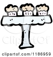 Cartoon Of A Table Of Muffins Royalty Free Vector Illustration by lineartestpilot