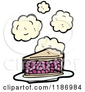 Cartoon Of Berry Pie Royalty Free Vector Illustration by lineartestpilot