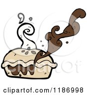 Cartoon Of A Homemade Pie Royalty Free Vector Illustration by lineartestpilot
