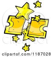 Cartoon Of A Golden Ticket Royalty Free Vector Illustration