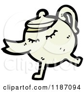 Cartoon Of A Teapot Royalty Free Vector Illustration by lineartestpilot