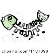 Cartoon Of Fish Bones Royalty Free Vector Illustration by lineartestpilot