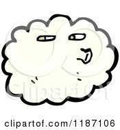 Cartoon Of A Windy Cloud Blowing Royalty Free Vector Illustration by lineartestpilot