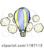Cartoon Of A Flying Hot Air Balloon Royalty Free Vector Illustration