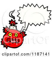 Cartoon Of A Bomb Speaking Royalty Free Vector Illustration by lineartestpilot
