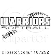 Clipart Of Warrior Softball Text Over Stitches Royalty Free Vector Illustration by Johnny Sajem