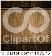 Clipart Of A 3d Grungy Wood Plaque Over Darker Wood Royalty Free CGI Illustration