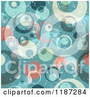 Clipart Of A Grungy Retro Circle Background Royalty Free Vector Illustration