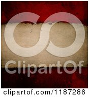 Clipart Of A Background Of Vintage Paper Over Red Grunge Royalty Free CGI Illustration