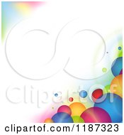 Clipart Of A Background Of Colorful Bubbles Around Copyspace Royalty Free Vector Illustration