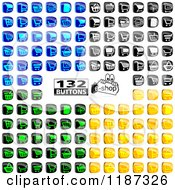 Clipart Of Colorful Shopping Cart Website Icons Royalty Free Vector Illustration by dero