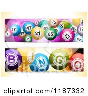 Clipart Of Bingo And Lottery Ball Banners Royalty Free Illustration