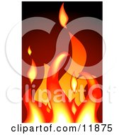 Hot Flames In A Fire Clipart Illustration