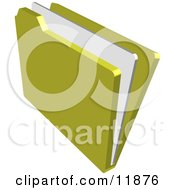 File Folder With A Document Clipart Illustration by AtStockIllustration