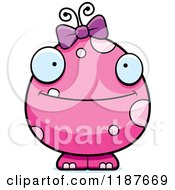 Cartoon Of A Happy Pink Female Monster Royalty Free Vector Clipart by Cory Thoman