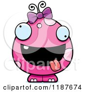 Cartoon Of A Crazy Pink Female Monster Royalty Free Vector Clipart by Cory Thoman